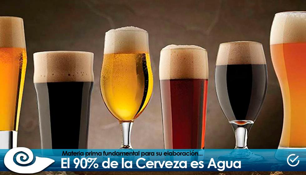 El 90% de la Cerveza es Agua